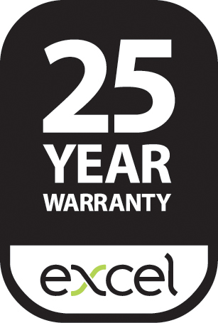 excel 25 year warranty logo